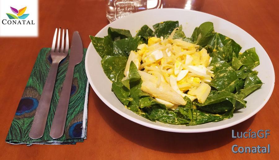 Ensalada de Espinacas y Huevo Cocino