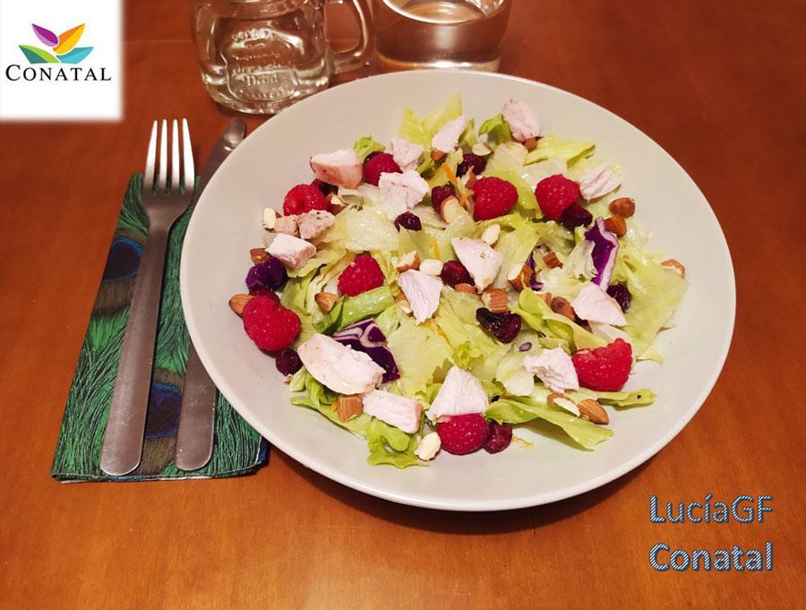 Ensaladas completas de frutos rojos